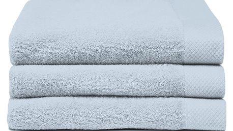 Sada 3 světle modrých ručníků Seahorse Pure,60x110cm