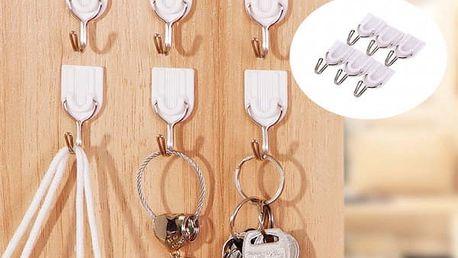 Sada lepících věšáčků na klíče - 12 kusů