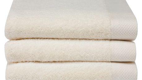 Sada 3 krémových ručníků Seahorse Pure,60x110cm
