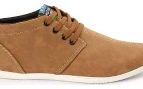 Kvalitní pánské boty BEST camel