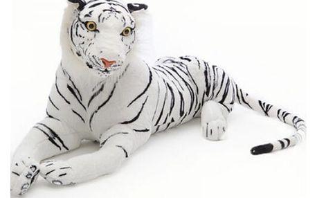 Bílý plyšový tygr - 3 velikosti