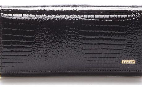 Dámská kožená černá peněženka - ELLINI Ellayne černá