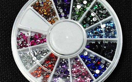 Kamínky na zdobení nehtů - barevný mix