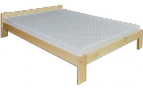 Dřevěná postel 140x200 LK107 borovice