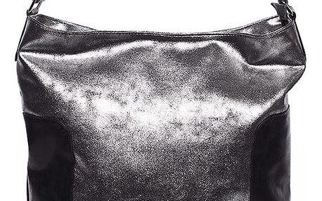 Elegantní velká dámská kabelka stříbrná - Carine Julie stříbrná