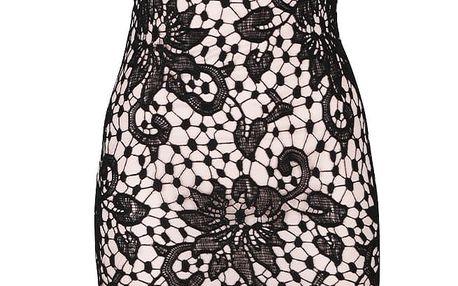 Černé krajkové šaty s květinovým vzorem AX Paris