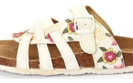 Dámské pantofle FLOWER bílé