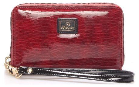 Dámská lakovaná peněženka červená - HEXAGONA Ophelie červená