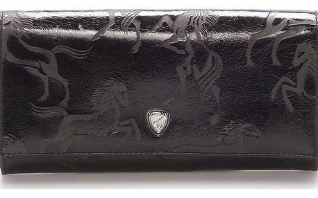 Dámská kožená peněženka černá - DINGGO Galla černá