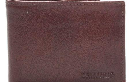 Pánská kožená peněženka hnědá - BELLUGIO Ames hnědá
