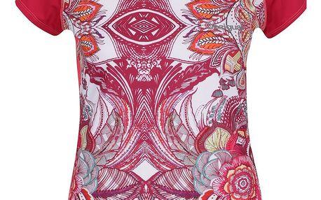 Růžové vzorované sportovní tričko Desigual Sport