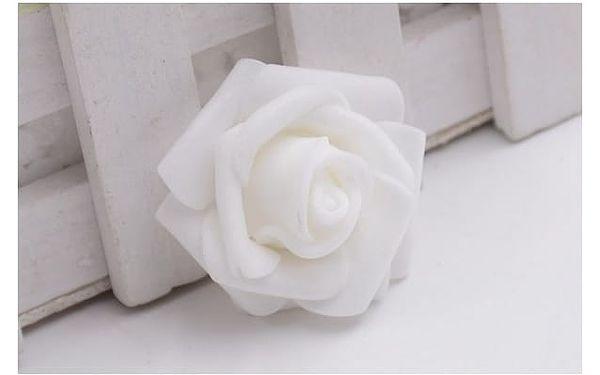 Dekorativní pěnová růže 10 ks - více variant