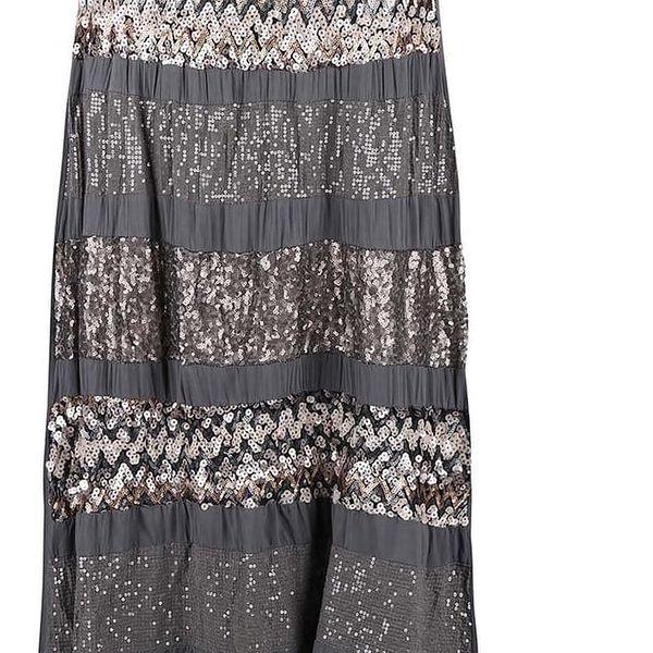 Tmavě šedá sukně ozdobená flitry ZOOT Now