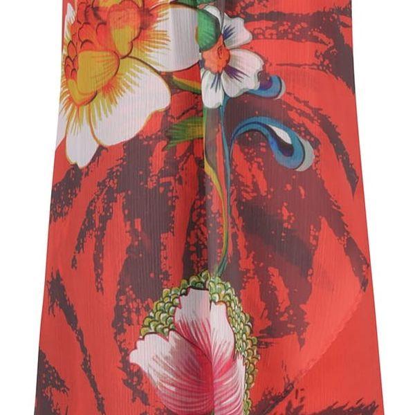 Červené vzorované šaty Desigual Shayck
