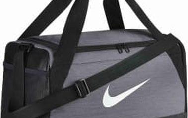 Taška Nike NK BRSLA S DUFF MISC FLINT GREY/BLACK/WHITE