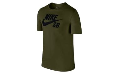 Pánské tričko Nike SB LOGO TEE L LEGION GREEN/BLACK