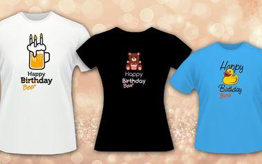 Veselá narozeninová trička s potiskem