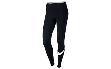 Dámské legíny Nike W NSW LGGNG LOGO CLUB M BLACK/WHITE