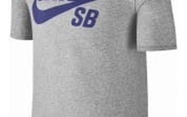 Pánské tričko Nike SB LOGO TEE XL DK GREY HEATHER/DEEP NIGHT