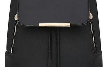 Koženkový batoh s detaily ve zlaté barvě - více barev