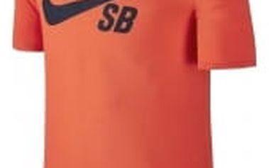 Pánské tričko Nike SB LOGO TEE 2XL MAX ORANGE/OBSIDIAN
