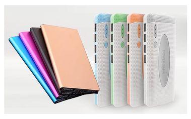 Přenosná power banka pro mobil, tablet i fotoaparát v různých barvách