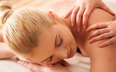 30minutová regenerační masáž zad a šíje