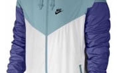Pánská bunda Nike M NSW WR JKT XL WHITE/MICA BLUE/DEEP NIGHT/BLA