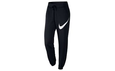 Dámské tepláky Nike W NSW PANT FLC REG GFX1 L BLACK/BLACK/WHITE
