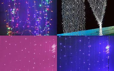 Světelný LED závěs 3 x 3 m - více barev