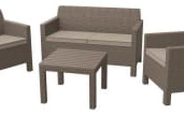 ORLANDO + SMALL TABLE cappuchino+pískové podušky zahradní set