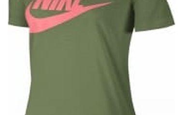 Dámské tričko Nike W NSW ESSNTL TEE HBR L PALM GREEN/PALM GREEN/LAVA GLO