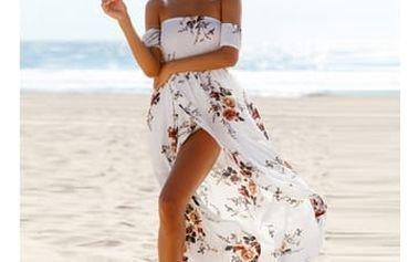 Květinové plážové šaty - 2 barvy
