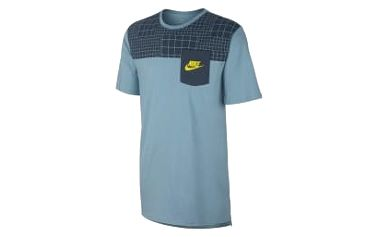 Pánské tričko Nike M NSW TEE DRPTL AV15 PKT PRNT XL MICA BLUE/MICA BLUE/ELECTROLIM