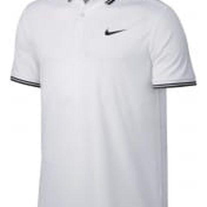 Pánská polokošile Nike M NKCT DRY POLO SOLID PQ M WHITE/BLACK