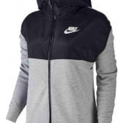 Dámská mikina Nike W NSW AV15 HOODIE FZ M DK GREY HEATHER/BLACK/WHITE