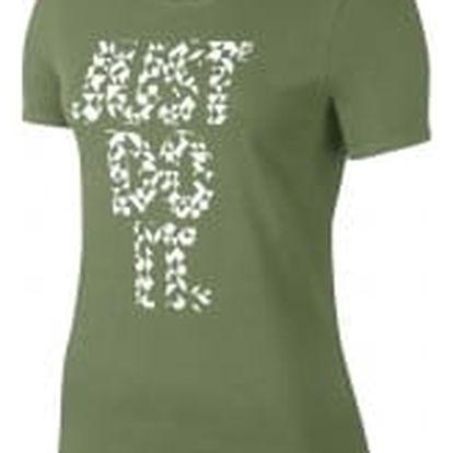 Dámské tričko Nike W NSW TEE CREW JDI TANGRAMS XL PALM GREEN/PALM GREEN/WHITE