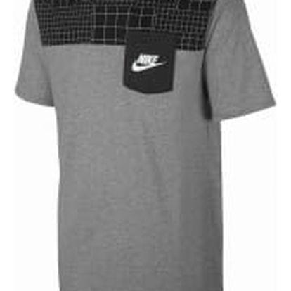Pánské tričko Nike M NSW TEE DRPTL AV15 PKT PRNT L DK GREY HEATHER/DK GREY HEATHE