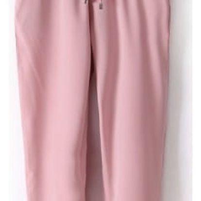 Dámské letní kalhoty v ležérním stylu se šněrováním - více barev