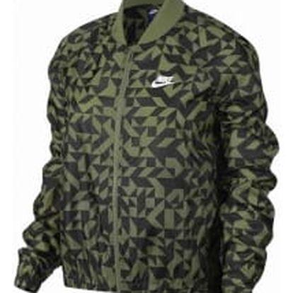 Dámská bunda Nike W NSW JKT TANGRAMS L PALM GREEN/WHITE