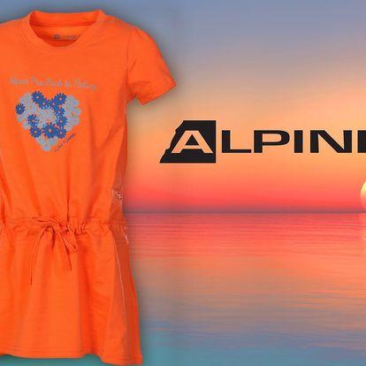 Dětské oranžové šaty Alpine Pro s potiskem