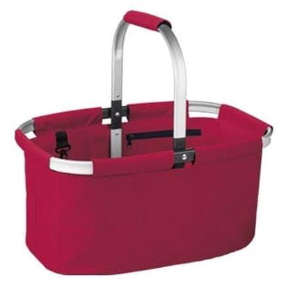 Nákupní košík skládací SHOP!, barevný mix, červená