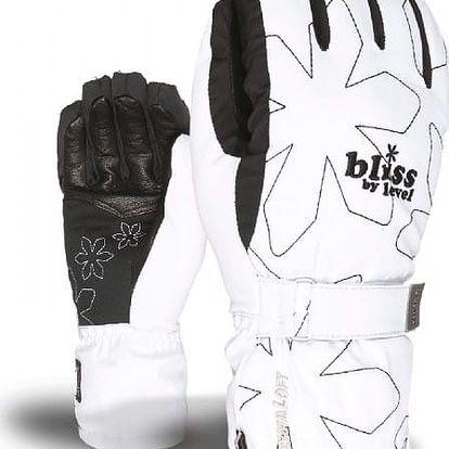 Dámské lyžařské rukavice Level Bliss Venus, bílé, M/L