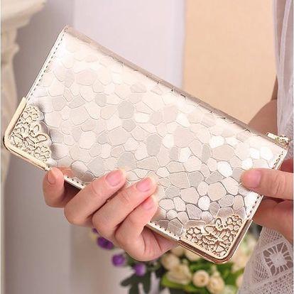 Dámská peněženka v luxusním designu - zlatá barva - dodání do 2 dnů