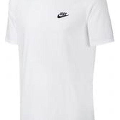 Pánské tričko Nike M NSW TEE CLUB EMBRD FTRA S WHITE/BLACK