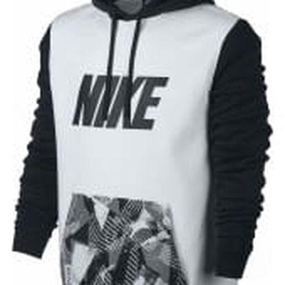 Pánská mikina Nike M NSW HOODIE PO FLC SP XL WHITE/BLACK
