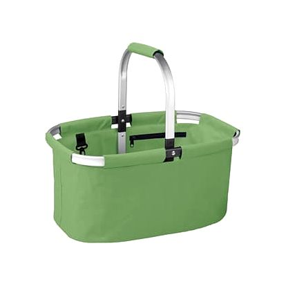 Nákupní košík skládací SHOP!, barevný mix, zelená