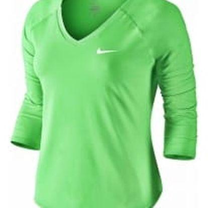 Dámské tričko Nike W NKCT TOP PURE 3QT M ELECTRO GREEN/WHITE