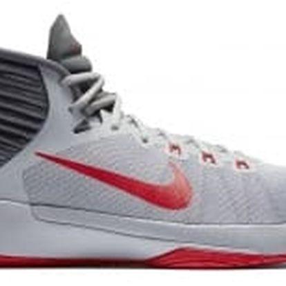 Pánské basketbalové boty Nike PRIME HYPE DF 2016 45 WOLF GREY/UNIVERSITY RED-DARK