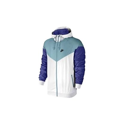 Pánská bunda Nike M NSW WR JKT XL WHITE/MICA BLUE/DEEP NIGHT/BLA